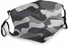 Camouflage Classic Masking Camo Black Grey Bandana