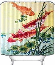 Camouflage Fabric Shower Curtain Hooks Waterproof