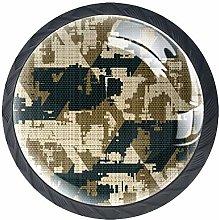 Camouflage Texture Round Knob Metal Cabinet