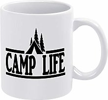 Camp Life Tent Outdoors Ceramic Coffee Mug Cup
