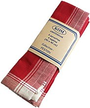 Campagne Table Linen 4 Napkins red