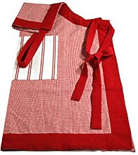 Campagne Table Linen Apron red
