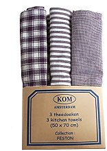 Campagne Table Linen Set of Three Tea Towels Blue