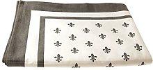 Campagne Table Linen Table Cloth Fleur de LYS Grey