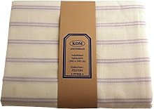Campagne Table Linen Table Cloth Stripe Pink
