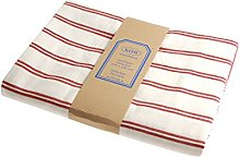 Campagne Table Linen Table Cloth Stripe red