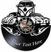 Camper Van home decoration wall clock with your