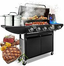 Campfire 4+1 Gas Burner Grill BBQ Barbecue with