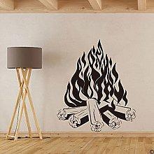 Campfire Campfire Camping Fire Fireplace Wall