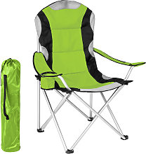 Camping chair - padded - green