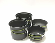 Camping Cooker Pan Set Camping Cookware Kit for