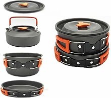 Camping Cookware Kit for Picnic and Hiking 2-3