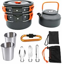 Camping Cookware Kit Portable Backpacking Hiking