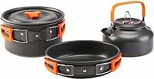 Camping Hiking Picnic Portable Cooking Pot Pan Set