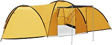 Camping Igloo Tent 650x240x190 cm 8 Person Yellow