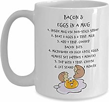 Camping Mug   Ceramic Coffee Mug with Bacon & Egg