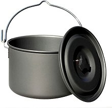 Camping Pot Outdoor Cooking Kettle with Lid Large