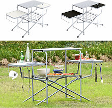 Camping table with Hooks & Bags - folding table,