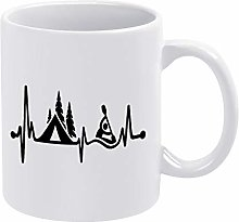 Camping Tent Kayak Lifeline Ceramic Coffee Mug Cup