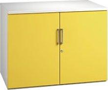 Campos 1 Shelf Cupboard (Yellow), Yellow