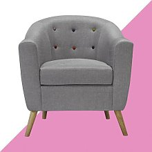 Campuzano Tub Chair Hashtag Home Upholstery: Grey
