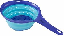 CAMRY Colander Collapsible Silicone Blue,