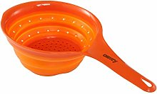 CAMRY Colander Collapsible Silicone Orange,
