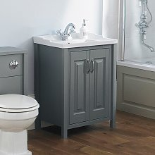 Camson 600mm Bathroom Traditional Grey Basin