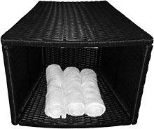 Canadian Spa Company Rattan Storage Table Bar Stool