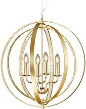 Candela pendant light in brass