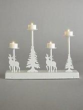Candle Bridge Lit Winter Scene Christmas Decoration