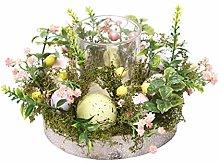 Candle Holder Glass Easter Egg Glass Tealight