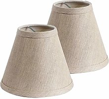 Candle Lamp Shades Clip on Linen Light Shades