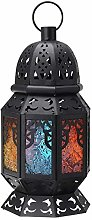 Candle Lanterns Moroccan Hanging Multi Coloured