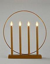 Candle Room Light Christmas Decoration - Matt Gold