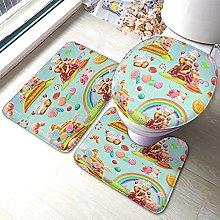 Candy Bathmat,Cartoon Game Sweet Candy Land Design