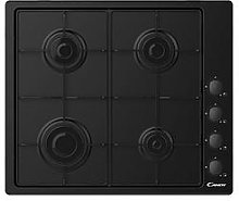 Candy Chw6Lbb 60Cm Gas Hob - Black - Hob With