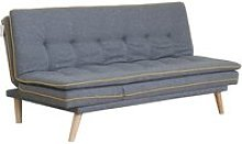 Candy Contemporary Sofa Bed In Grey Fabric With