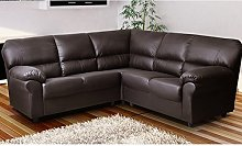 CANDY Corner Sofa Suite in Brown PU Leather