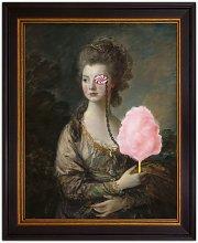 Candy Floss Lady Framed Canvas Print, 61 x 51cm,