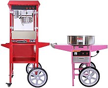 Candy Floss Maker and Popcorn Machine with Cart