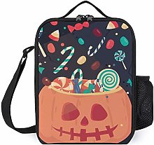 Candy in The Pumpkin Insulated Lunch Box Cooler