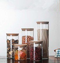 Candy Jar For Spices Glass Transparent Container