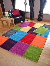 Candy Multicoloured Blocks Design Rug. Available
