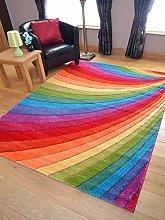 Candy Multicoloured Rainbow Design Rug. Available