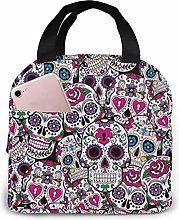 Candy Skull Lunch Bags Insulated Travel Picnic