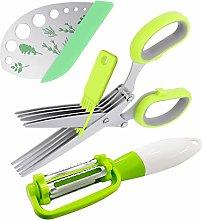 Canghai Herb Stripper Set Herb Scissors with 5