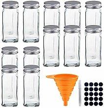 Canister Set Glass Spice Jar Condiment Dispenser