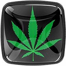 Cannabis Leaf 4 Packs Kitchen Cabinet Knobs,Pulls
