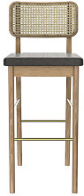 Cannage Bar stool - / H 65 cm - Fabric by RED
